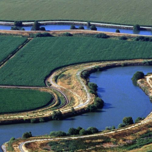 Aerial view of the San Joaquin River