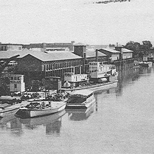 Historical Photo of the river
