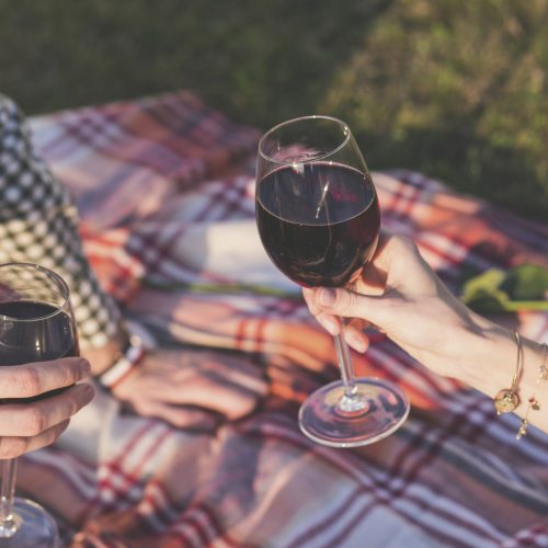 Sharing a glass of wine in the Delta