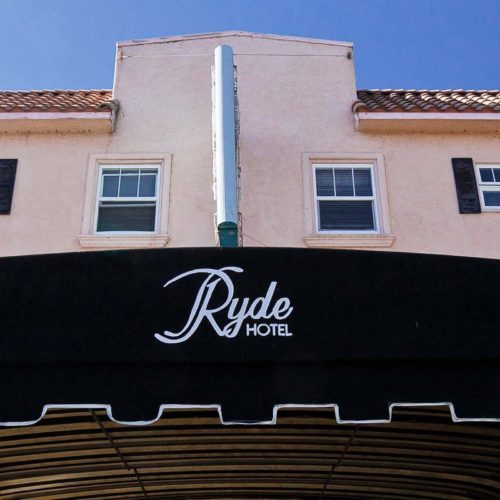 Ryde Hotel outdoor sign