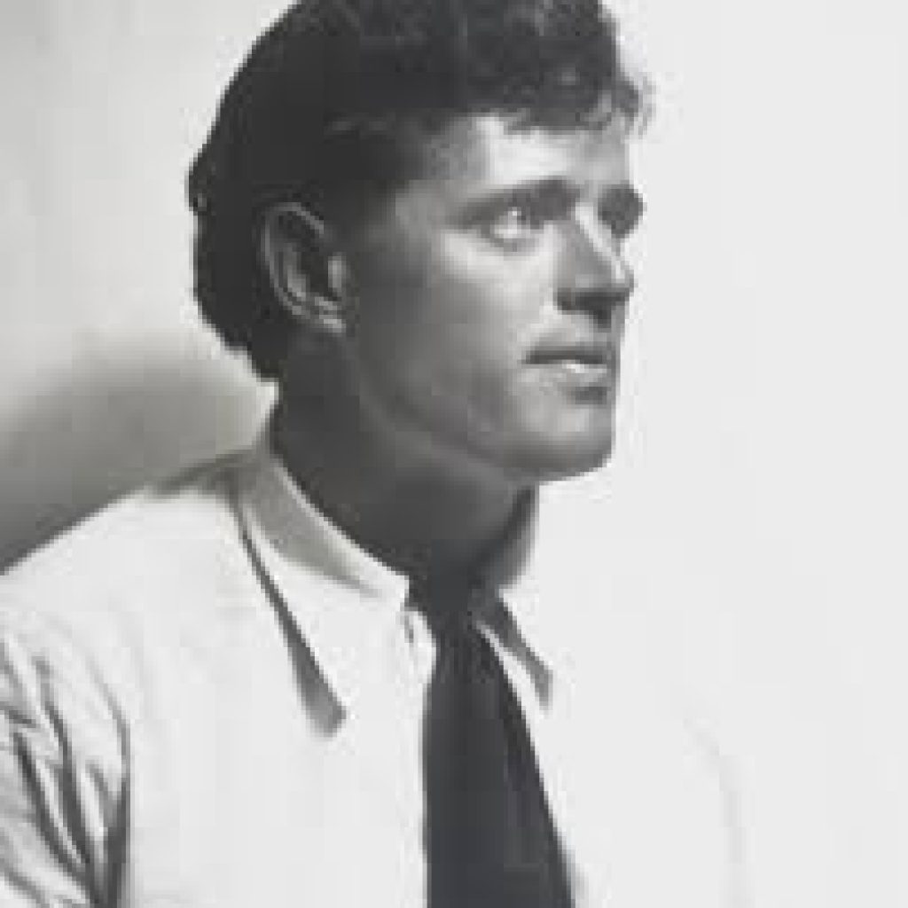 Black and white photo of Jack London