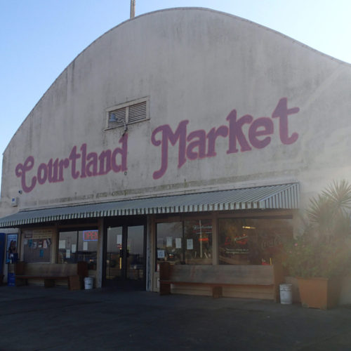 Storefront view of Courtland Market