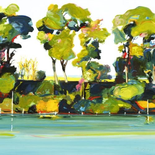 Painting of the Sacramento River trees
