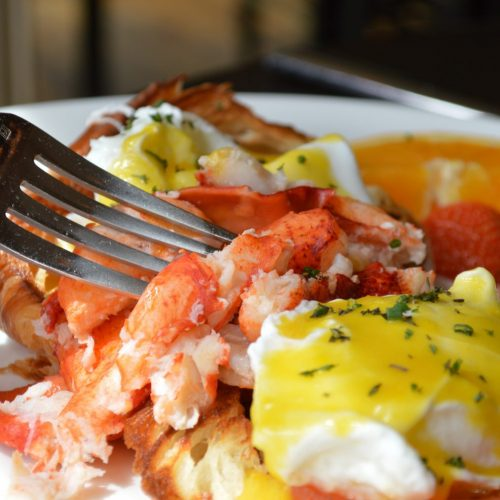 Lobster egg brunch