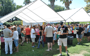 A group of people at the Taste of the Delta Event