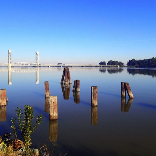 Scenic view of Rio Vista bridge