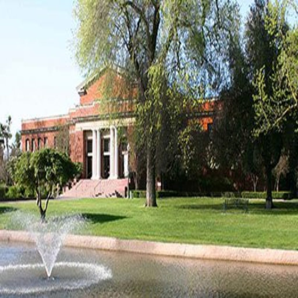 Entrance view of Haggin Museum in Stockton, CA