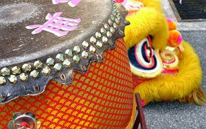 Asian drum at the Asian Spring Festival in Locke, CA