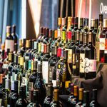 Wine bottle collection at the Lodi Wine Food Festival