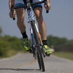 Delta cyclist on a trail