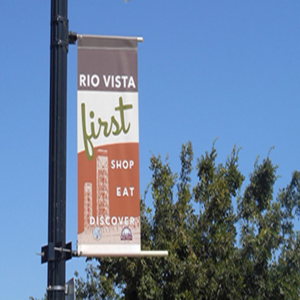 Rio Vista Sidewalk Saturday outdoor banner