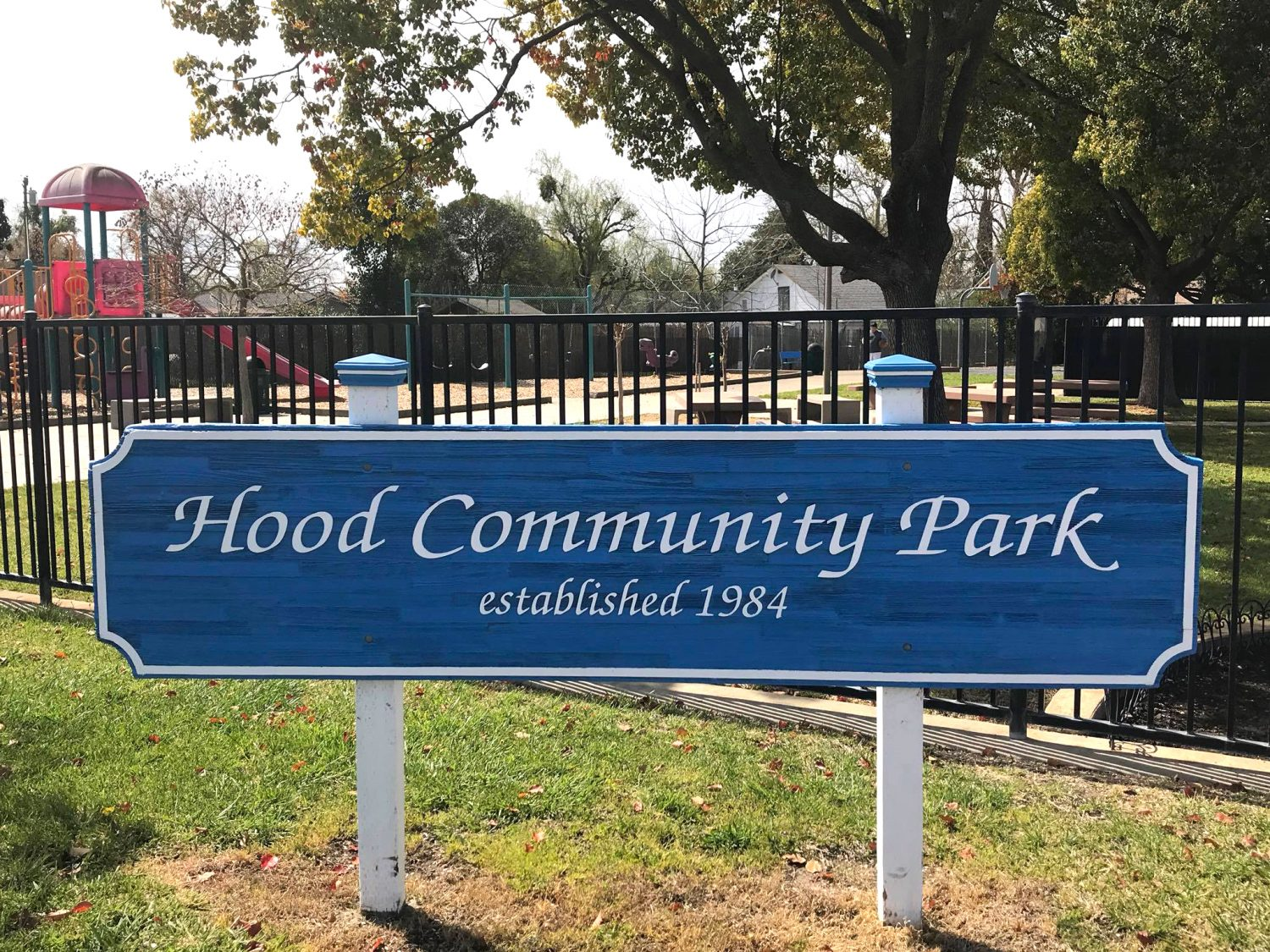Hood, CA, Hood Community Park, sign, recreation, parks,