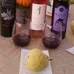 Delta Harvest Fest with wine and pears