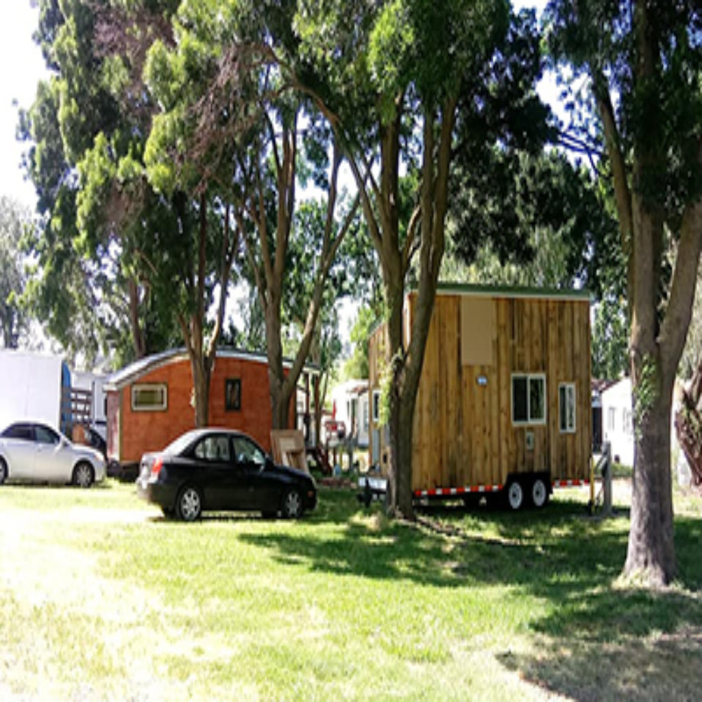 Tiny camp houses in the Delta