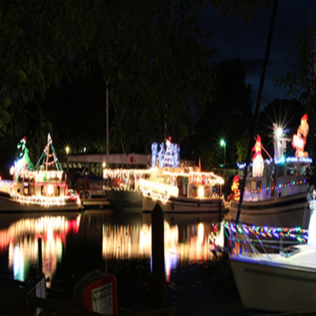 Delta Christmas lighted boat parade
