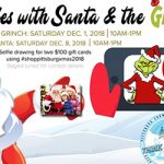 Selfies with Santa and the Grinch event flyer