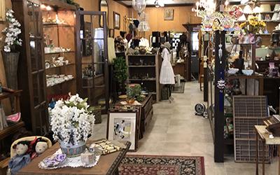 Inside view of an antique shop
