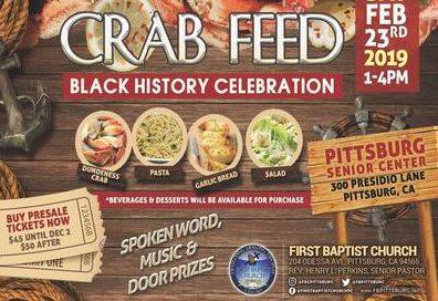 Crab Feed event flyer