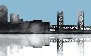West Sacramento building silhouette