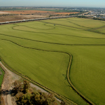 Aerial view of the Yolo Bypass