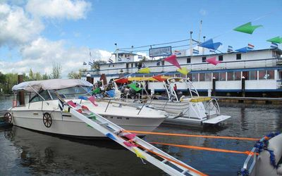 San Joaquin Yacht Club boats for Opening Day Parade