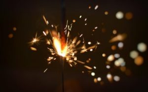 Firework sparklers for fourth of July
