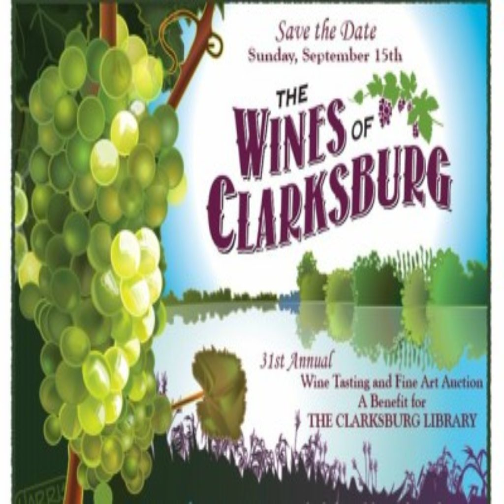 event flyer for Wine of Clarksburg